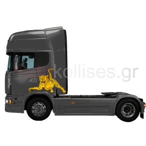 Αυτοκόλλητα φορτηγών ΤΙΓΡΗ, αυτοκόλλητο έγχρωμη τίγρη