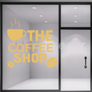 Αυτοκόλλητα καταστημάτων καφέ ,autokollito coffee shop, cafe,αυτοκόλλητο,καταστήματος