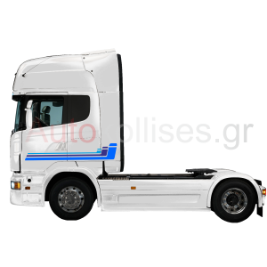 Αυτοκόλλητα φορτηγών με πολύχρωμες ρίγες