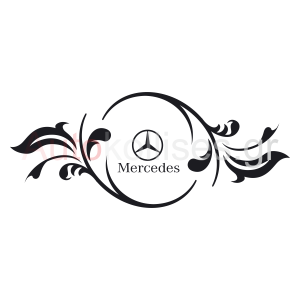 αυτοκόλλητα με το λογότυπο της MERCEDES