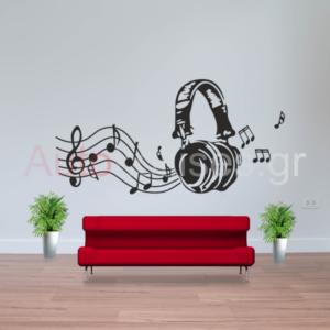 Αυτοκόλλητα τοίχου,stickers,wall stickers,διακοσμηση σπιτιου, aytokollhta toixou,love birds,μουσική,νοτες,music,listening to music,living room