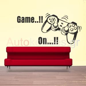 αυτοκολλητα τοιχου,game on,παιδικο δωματιο,stickers toixou,paidiko domatio