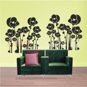 Sticker toixou,flowers,αυτοκολλητα τοιχου,λουλουδια